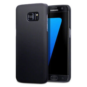 Phone Case For Galaxy S7 Edge Matte Black Hybrid Hard Protective Back Cover UK