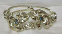 Vintage Gold Tone Aurora Borealis Rhinestone S & G 5th Avenue Bracelet
