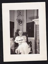 Vintage Antique Photograph Grandma Sitting in Rocking Chair in Retro Room