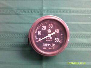 "Vtg. Chrysler Marine 6-RPM Gauge-AS IS/AS FOUND-3-1/4"" across"