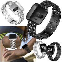 US Cowboy Bracelet Strap For Fitbit Versa / 2 Alloy Watch Wrist Band Metal Bands