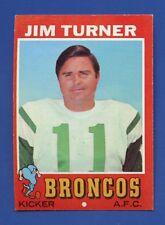 1971 Topps # 136 Jim Turner  Denver Broncos  EX/MT+  Additional ship free