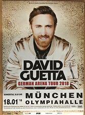 David Guetta 2018 Munich-orig. Concert Poster -- CONCERT AFFICHE a1 NEUF