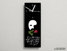 Phantom of the Opera Quotes - I couldn't hope to be a man ... - Wall Clock
