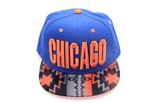 CHICAGO CITY SNAPBACK WITH BEAUTIFUL BRIM HAT, CAP, ADJUSTABLE, 100% COTTON