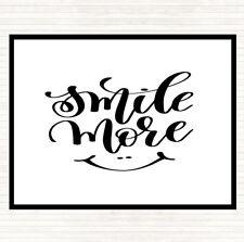 Blanco Negro sonrisa más presupuesto Mouse Mat Pad