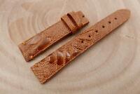 18mm/16mm Cognac Genuine OSTRICH Skin Leather Watch Strap Band Hanmade