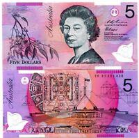 AUSTRALIA 5 DOLLARS 1995 P 51 POLYMER UNC