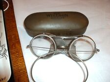 Vintage Willson Goggles in Original Metal Case Steam Punk Style Lj31 1/2 Usa A6