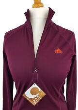 ADIDAS Woman's T-Shirt - Orange Logo Long Sleeve Light weight Outdoor 10, 12, 14