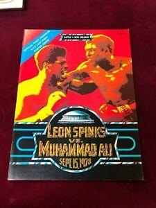 1978 Official Fight Program Leon Spinks v Muhammed Ali (Last fight) (PL1)