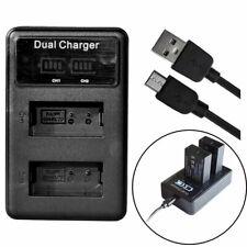 USB LCD Dual Battery Charger for Nikon EN-EL20/a Nikon 1 Series J1 J2 J3 S1 AW1