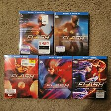 The Flash: The Complete 1st 2nd 3rd 4th and 5th season blu ray set. NEW unopened