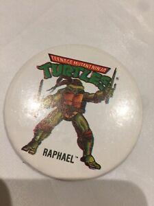 Vintage 1990's Badge 'teenage Mutant Turtles Raphael Badge'