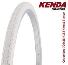 "Copertone KENDA 700x28 28x1-5/8x1-1/8 K193 kwest Bianco per bici 28"" Condorino"