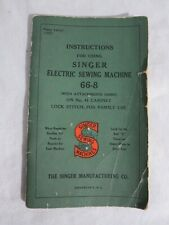 Singer 66-8 Sewing Machine Instruction Manual Form 19137 1937
