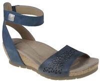 Earth Origins Women's Kendra Krystal Moroccan Blue Leather sandals