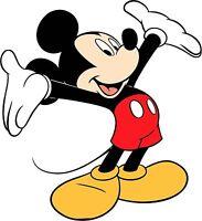 Mickey Mouse Iron On Transfer Light or Dark Fabrics 5 x 7 Size