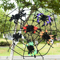 Halloween Spider Web Party Bar Decoration Props Trick Extra Plush Spider