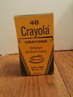 Crayola Vintage Binney And Smith Rare 48 Crayon Box Barely Used