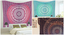 Wholesale Lot of 3Pcs Mandala Tapestry Hippie Bohemian Single Size Bedding Throw