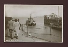 Lancashire Lancs FLEETWOOD Ferry Boat c1940/50s? RP  PPC local pub Parkinson