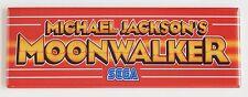 Moonwalker Marquee FRIDGE MAGNET (1.5 x 4.5 inches) arcade michael jackson