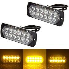 1X12 Led Yellow/White Flashing Light Recovery Lightbar Beacon Truck Van Car