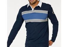 Colorado Denim Herren Langarmshirt Poloshirt Baumwolle XXL 56 XXXL 58 Blau weiß✅