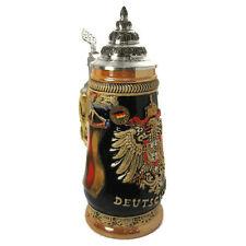 Collectable LTD German Lidded Beer Stein. Hand-painted Deutschland Eagle