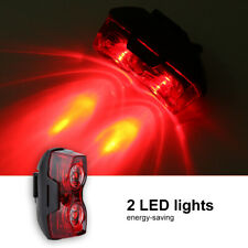 2 LED USB Rechargeable Bike Tail Light Bicycle Safety Cycling Warning Rear Lamp