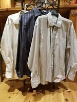 pronto uomo dress shirt no iron sz xxl lot of 3