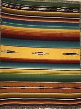 Southwest Heirloom Santa Fe Maize Geometric Art Tapestry Throw Blanket 246BTU2