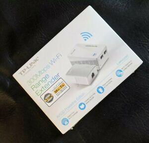 TP-Link TL-WPA4220 KIT AV600 600Mbps Powerline 300Mbps WiFi Range Extender NEW