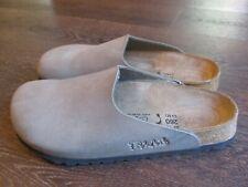 Birki's Birkenstock Leather Clog Mule Size 40 US Ladies 9 Mens 7 Gray