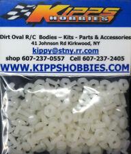 4-40 WHITE NYLON RC BODY FASTENERS 200 PCS DIRT OVAL MODIFIED SPRINT CAR EDM MDM