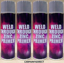6 X WELD THROUGH ZING ETCH PRIMER 500ml AEROSOL
