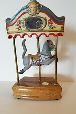 "Limited Edition Tobin & Fraley Collection Willitts Cat Carousel Music Box 12.5""h"