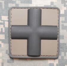 "3D PVC MEDIC CROSS SQUARE PARAMEDIC ACU DARK VELCRO® BRAND FASTENER PATCH 2"""