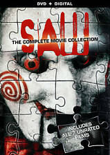 SAW 1-7 COMPLETE 7 FILM UNRATED SAW SERIES COLLECTION 4 DVD DISC SET GLOVER W/S