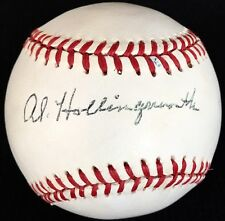 "RARE Al ""Boots Hollingsworth d.96 PSA/DNA Signed Baseball 1944 STL Browns Reds"