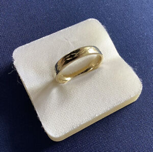 Ring Gold 585/14 kt Gelbgold 4,77 Gramm mit Muster Trauring Ehering