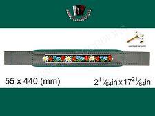Accordion Bass Strap Folk Black Leather / Green Velvet 440x55 With Hardware