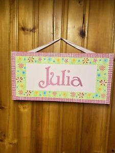 JULIA Sign Wall Hanging Room Dorm Canvas 3D Name Plaque