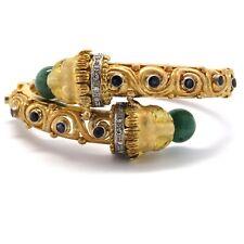 Zolotas Greece Gold Sapphire Nephrite Diamond Chimera Bracelet