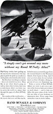 Witches on Broom CHARLES ADDAMS Getting Around w/o Rand McNally HALLOWEEN '45 Ad