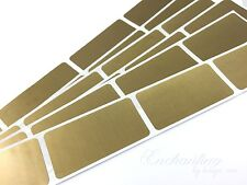"""500 - Scratch Off Labels 1"""" x 2"""" Gold Rectangle Stickers"""