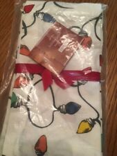 "Pottery Barn ""Holiday Lights"" Cloth Napkins, Set of 4, Nwt"