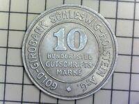 Lot 2 monnaies Allemandes - 5 & 10 Hundertstel Gutschrifts Marke 1923 - SUP++