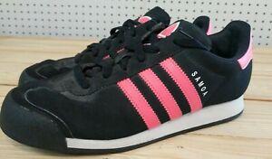 Women's Adidas Samoa Black & Pink Size 7 ART Q32568 Used Great Condition